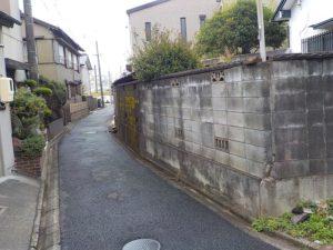 愛知県名古屋市のブロック塀撤去施工前