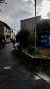 愛知県名古屋市のブロック塀撤去施工後/ハツリ・撤去完了